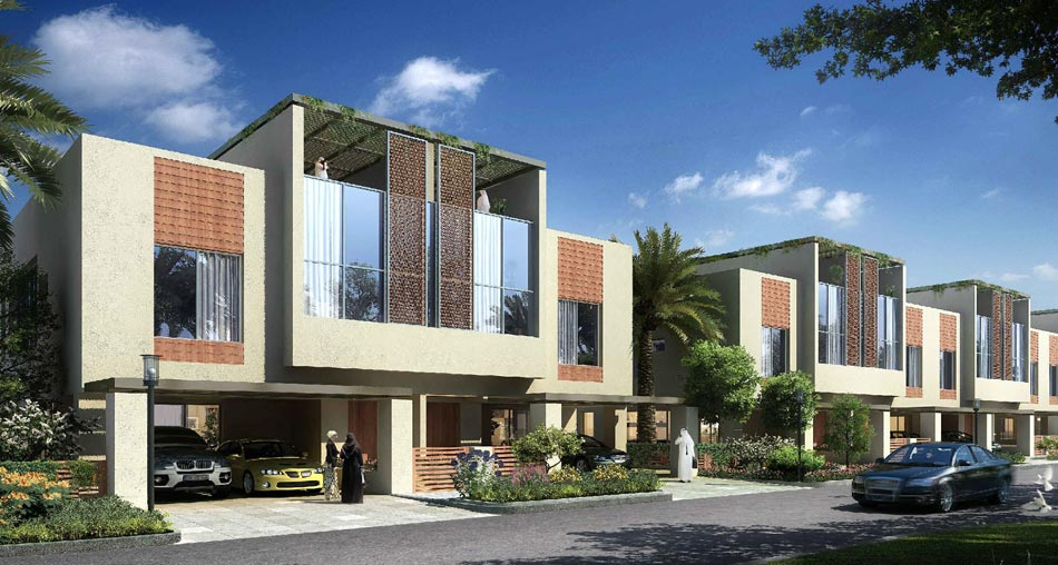 Grand views luxury townhouses in dubai for Townhouse architecture designs